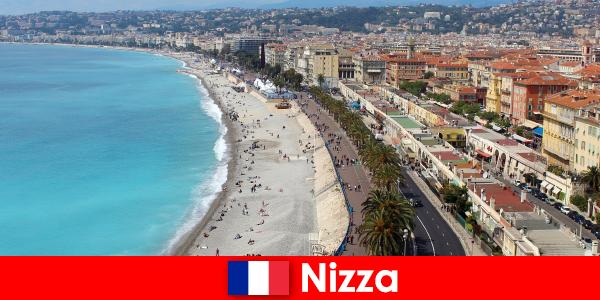 Изживейте мечтания плаж на Ница във Франция