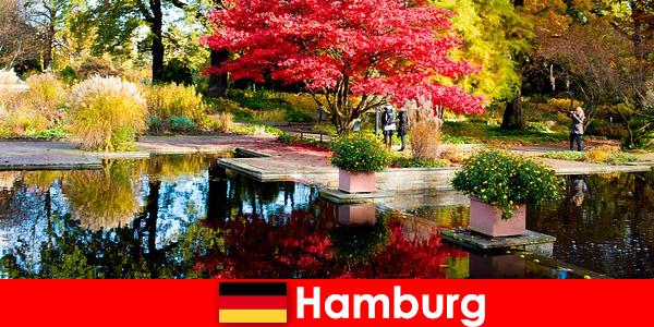 Хамбург пристанищен град с големи паркове за релаксираща почивка