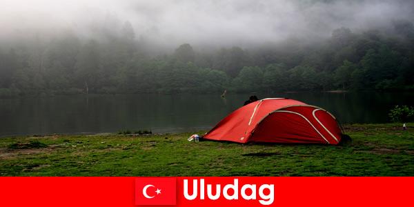 Къмпинг почивка със семейството в горите на Улудаг Турция