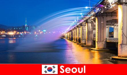 Сеул в Корея е град на светлините, който привлича чужденци