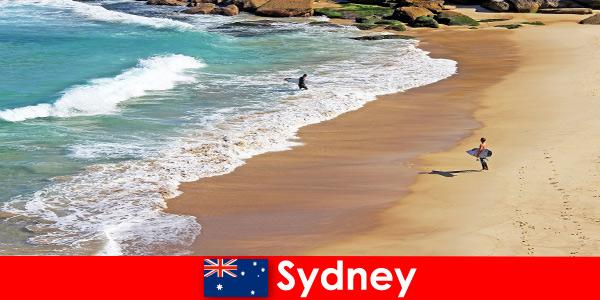 Сърфиращите туристи се наслаждават на най -добрия удар в Сидни, Австралия