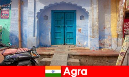 Пътуване в чужбина до Агра Индия в селския живот на село