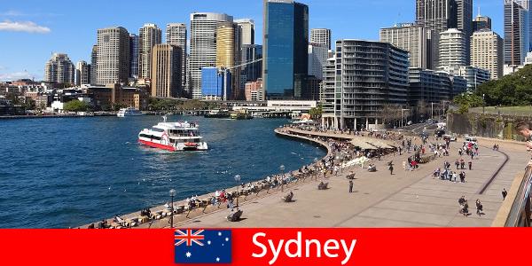 Панорамна гледка към целия град Сидни в Австралия за посетители от цял свят
