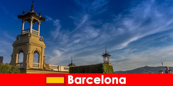 Археологическите обекти в Барселона Испания очакват запалени исторически туристи