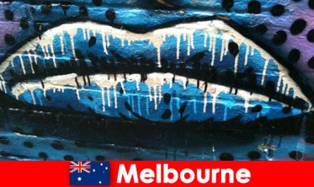 Пътуващите се възхищават на световноизвестните улични изкуства на Мелбърн, Австралия